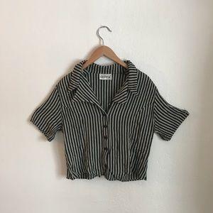 Tops - Vintage Striped Crop Top